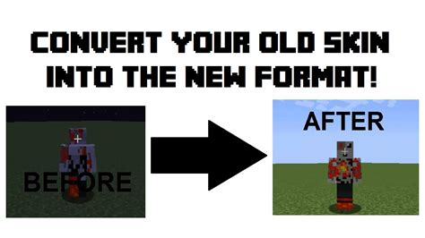 How To Convert Old Skin Format To 1.8+ Formatting