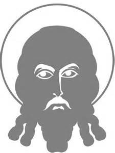 silhouette visage de jesus silhouettes vectoriel