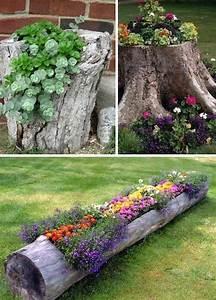 Garten Bepflanzen Ideen : wunderbar baumstamm bepflanzen 29 ideen f r pflanzgef e ~ Lizthompson.info Haus und Dekorationen