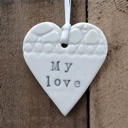 Heart Ceramic Handmade Decoration Ceramics Sarah Morris