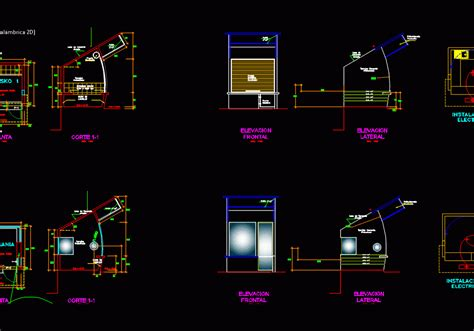 kiosco dwg plan  autocad designs cad