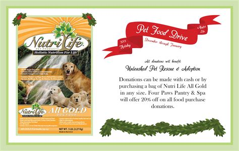 holiday pet food drive paws