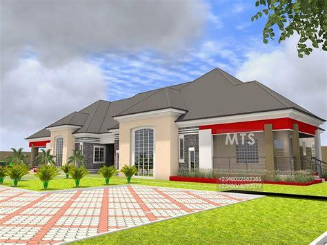 kunle  bedroom bungalow modern  contemporary nigerian building designs