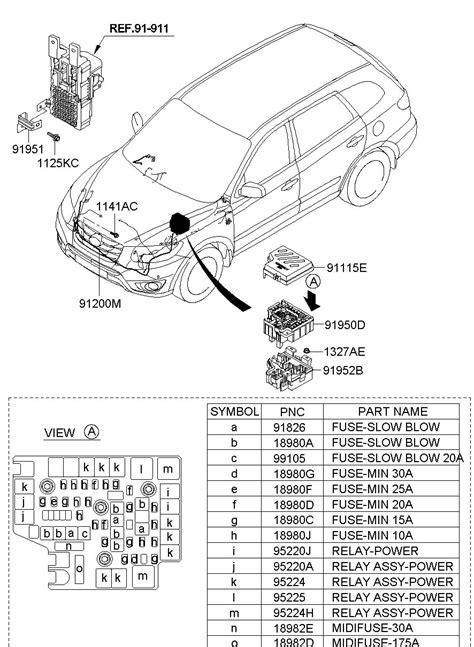 2010 Hyundai Santum Fe Engine Diagram by 2010 Hyundai Santa Fe Accessory Power Relay Relay Power
