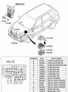 2010 Hyundai Santa Fe Accessory Power Relay  Relay - Power