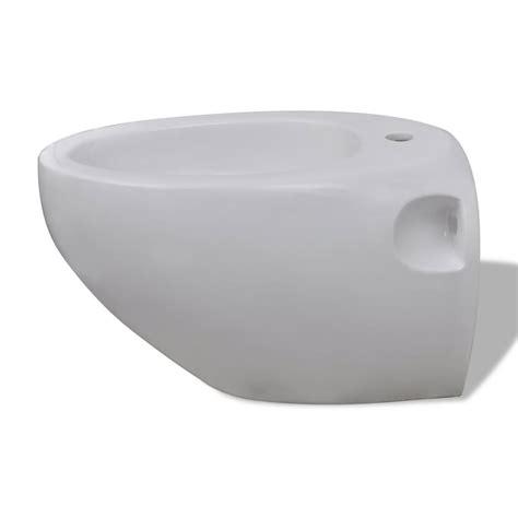 Toilet Bidet Set by Wall Hung Toilet Bidet Set White Ceramic Vidaxl Co Uk