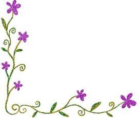 Floral Corner Borders Clip Art