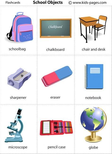 2º Primaria Inglés School Objects Flashcards  Vocabulario Objetos De Clase  English Corner