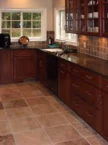 kitchen tile ideas cherry kitchen cabinets kitchens with grey floors kitchen tile floors with cherry cabinets