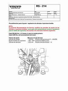 Ajuste De Valvulas Motor Volvo D12d