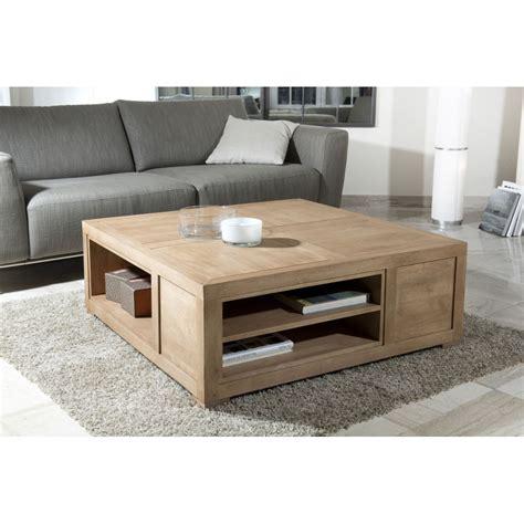 table basse carree avec rangement idees de decoration