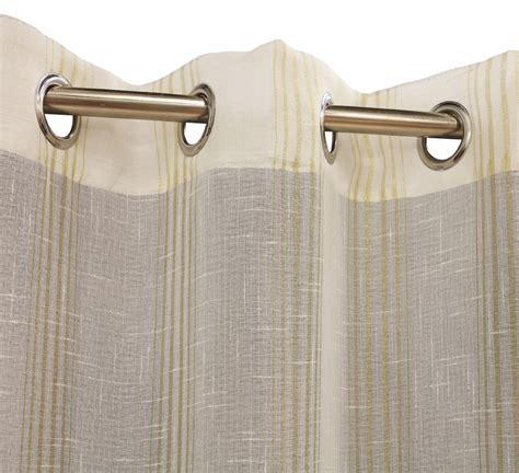 louisa outdoor semi sheer metallic pin stripe grommet