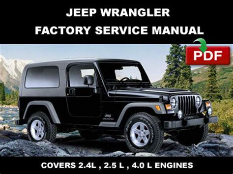 Jeep Wrangler Tj 1997  2006 Service Repair Workshop Fsm
