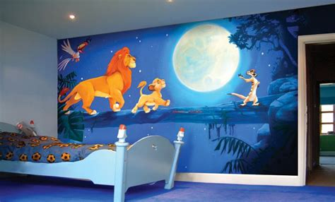 disney murals for nursery the king mural for room bedroom s best the king and murals