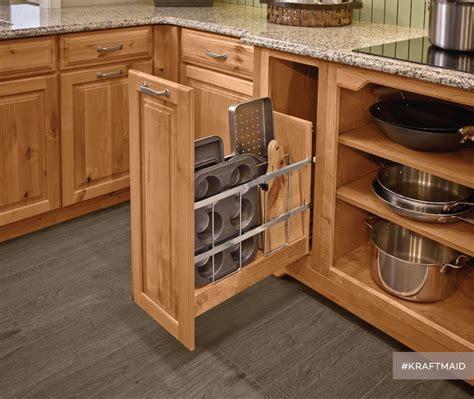 kitchen cabinet tray organizer kraftmaid kitchen tray baking sheet storage rustic