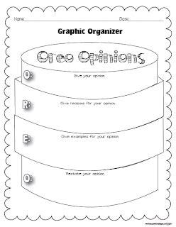 opinion oreo graphic organizer classroom freebies
