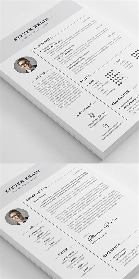 Graphic Design Portfolio Resume by 26 Creative Cv Resume Templates With Cover Letter