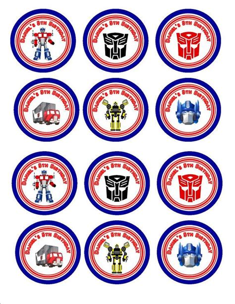 Transformer Cupcake Topper Template by 1000 Images About Transformer On Pinterest