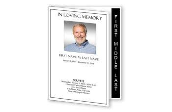 plain funeral program template graduated fold elegant