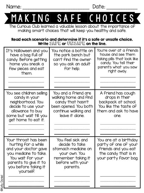 images  making choices worksheets st grade