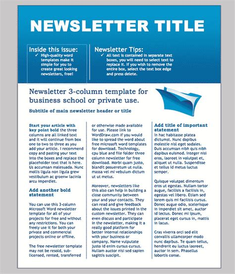 free editable newsletter templates editable classroom newsletter template free templates resume exles zjylvbpgr0