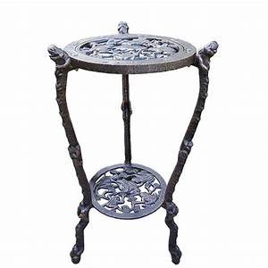 Oakland, Living, 27-1, 2, In, Metal, Frog, Table, Plant, Stand-5078-ab