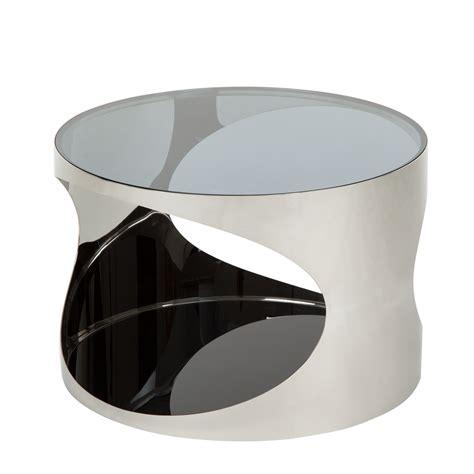 couchtisch rund glas couchtisch rund metall silber schwarz hochglanz beistelltisch wohnzimmertisch ebay