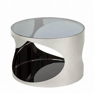 Couchtisch Schwarz Metall : couchtisch rund metall silber schwarz hochglanz beistelltisch wohnzimmertisch ebay ~ Eleganceandgraceweddings.com Haus und Dekorationen