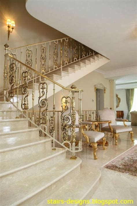 elaborate marble staircase  foyer  gold gilt stair