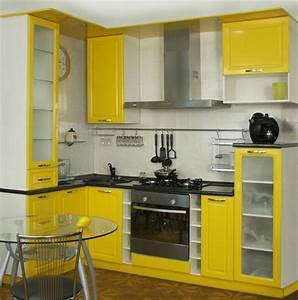 25 space saving small kitchens and color design ideas for With cabinets for small kitchen spaces