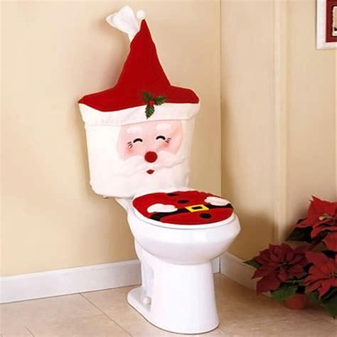 pcs santa toilet seat cover bathroom set christmas xmas