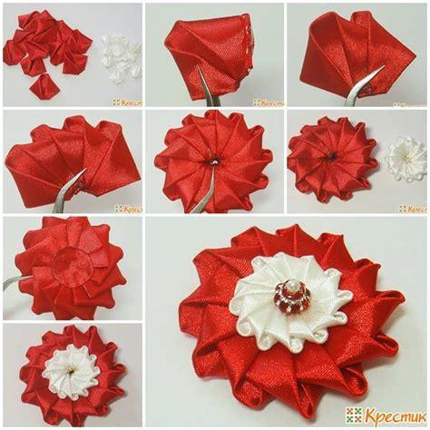 satin ribbon craft ideas diy bright satin ribbon flower 5364