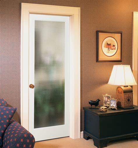 Cross Reed Decorative Glass Interior Door   Modern