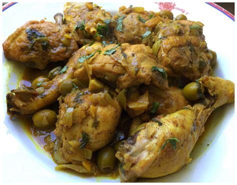 tajine de poulet aux olives  au citron confit la