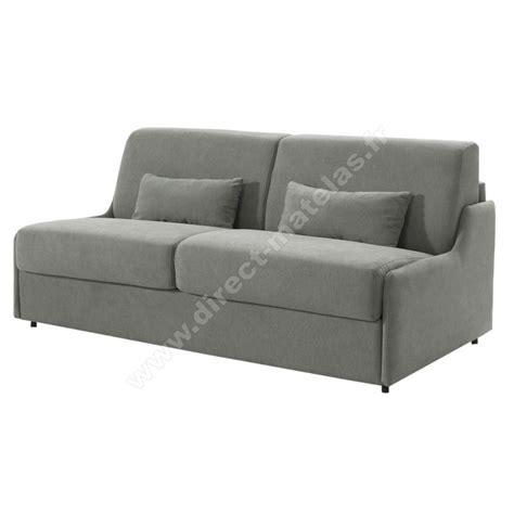 matelas de canapé convertible canapé convertible d m gain de place tissu gris clair