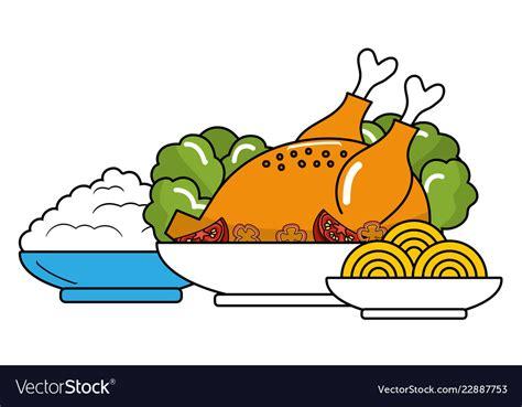Cartoon food that looks delicious: Delicious food cartoon Royalty Free Vector Image