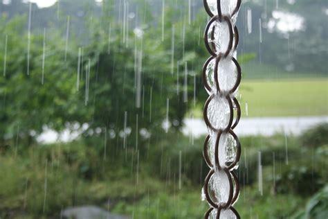 gutter chain drain chains musical drains downspout alternatives put 1522