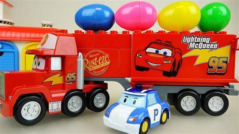 Cars Truck Surprise Eggs And Robocar Poli Car Toys