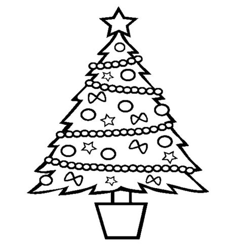christmas trees   bucket coloring pages color luna