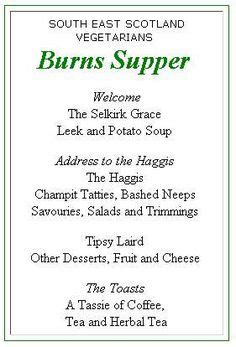 Burns Supper Menu Template by Quot Address To A Haggis Quot Ready To Read For Burns Supper