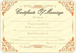 the gallery for gt printable marriage certificate download With wedding certificate templates free printable