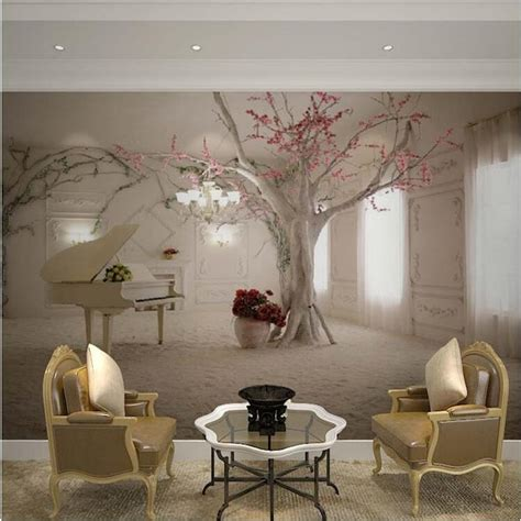 custom  size  wall mural wallpapers  living room