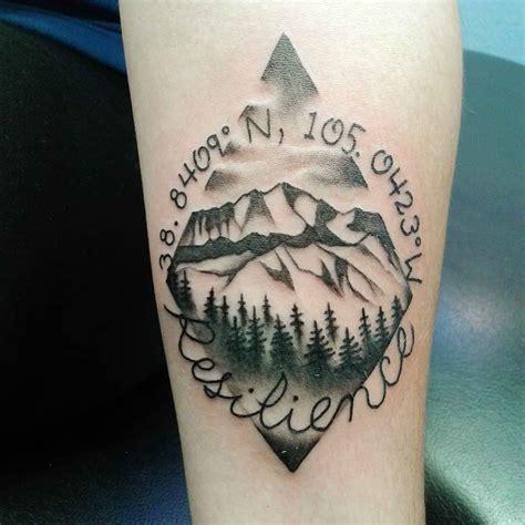 mountain tattoos lets climb high wild tattoo art