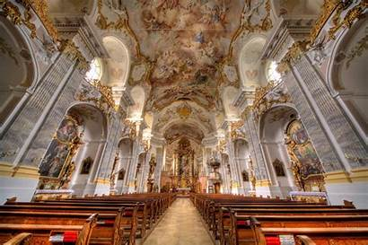 Church Altar Inside Cathedral Background Wallpapers Bench