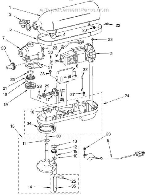 kitchen aid replacement parts kitchenaid kp26m1xnp4 parts list and diagram