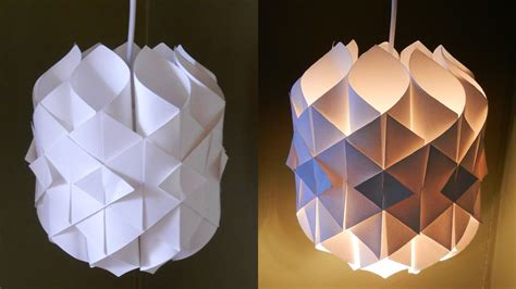 diy paper lamplantern cathedral light