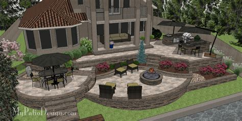 Outdoor Brick Patio by Custom 3d Patio Design Designing Patios You Love To Use