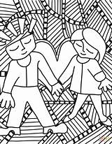 Pop Coloring Couple Printable Adults Drawing Colouring Culture Getdrawings Supercoloring Categories sketch template