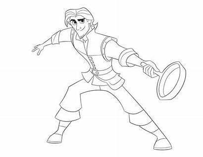 Tangled Coloring Flynn Series Pages Rider Eugene