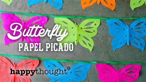 butterfly papel picado decorations   beautiful fiesta